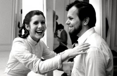 Carrie Fisher y Gary Kurtz.