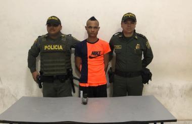 Jeider Enrique Correa Rojano, capturado.
