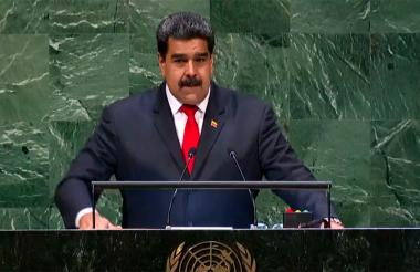 El presidente Nicolás Maduro durante la Asamblea General de las Naciones Unidas.