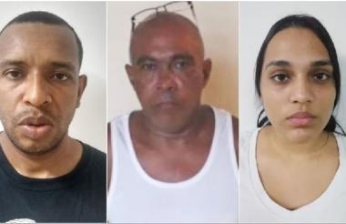 Tres de los señalados integrantes de la banda delincuencial denominada 'Champions'.