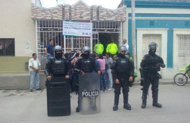 Fue necesaria la presencia del Esmad para evitar disturbios.