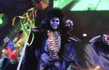 Rey Momo 2018, Ricardo Sierra, vestido de la muerte, rol que desempeña en el Garabato de la Unilibre.