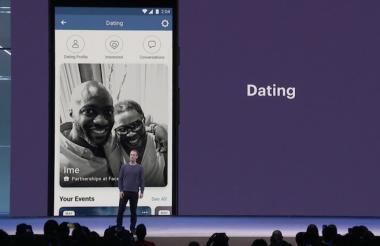 Mark Zuckerberg, explicando la nueva aplicación Facebook Dating.