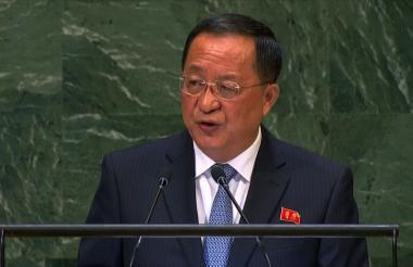 Yong Ho Ri, jefe de la dplomacia de Corea del Norte.