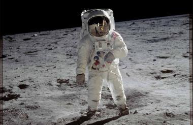 Llegada de la misión Apolo 11 a la Luna en 1969.