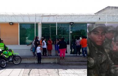 Hospital de Riohacha en es atendido Yonier Barros (en el recuadro).