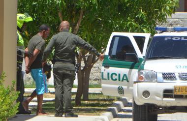 Mmomento en que Adolfo Arrieta García fue capturado.