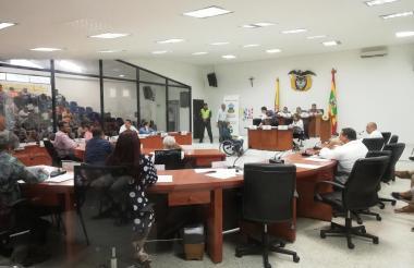Aspecto de la sesión del Concejo realizada este lunes.