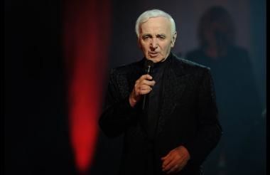 Charles Aznavour, cantante francés.