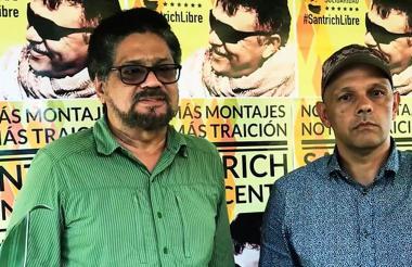 Iván Márquez y alias 'El Paisa'.