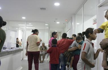 Un grupo de los menores fue atendido en el hospital de Sabanalarga.