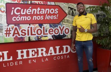El atleta Anthony Zambrano visitó a EL HERALDO.