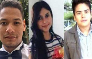 Los tres geólogos asesinados en septiembre pasado en Yarumal, Antioquia.