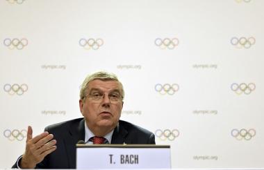 El alemán Thomas Bach, presidente del COI.