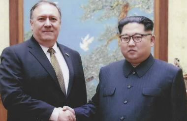 Mike Pompeo y Kim Jong-Un