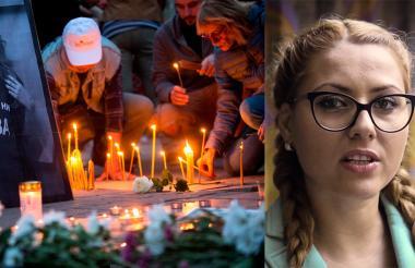 La gente participa en una vigilia en memoria del cruel homicidio de la periodista búlgara Viktoria Marinova.