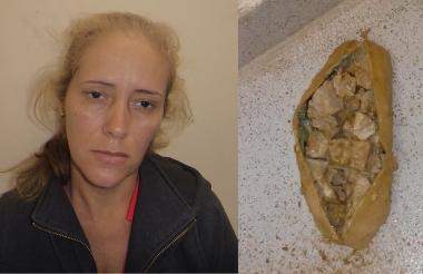 La mujer y la droga incautada quedaron a disposición de la Fuscalía.