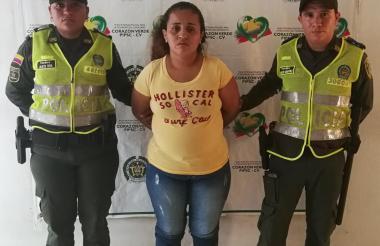 Elis Johana Baños Morales, de 33 años, fue detenida en Ponedera por el delito de fabricación, tráfico y porte de estupefacientes.