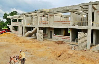 Panorama de las obras en el colegio San Pablo.