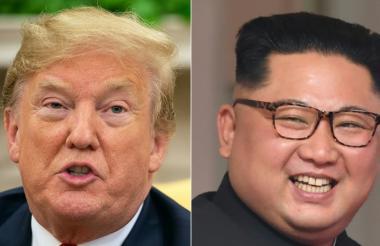 Presidente Donald Trump y el líder norcoreano Kim Jong.