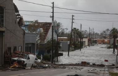 Algunas casas sufrieron las consecuencias del huracán 'Michael' y quedaron destrozadas.