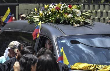 Albán fue sepultado este jueves en el Cementerio del Este en Caracas.