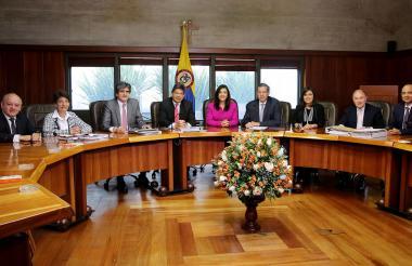 Los magistrados de la Corte Constitucional.