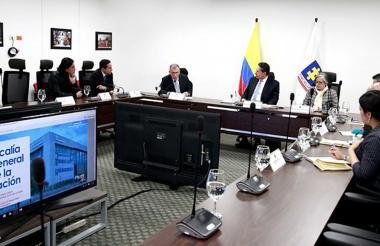 Reunión del Fiscal General de la Nación con la Comisión de Paz del Congreso.