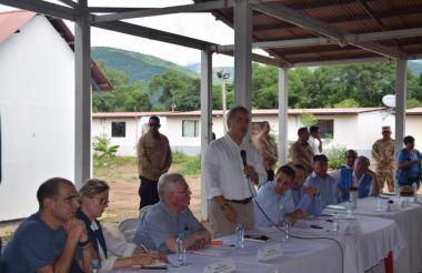 El presidente Iván Duque en su primera visita a un Espacio Territorial de Capacitación y Reincorporación de exmiembros de Farc en Pondores.
