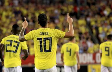 El '10' de la Amarilla celebra el gol que le anotó el pasado jueves, en Tampa, a EEUU.