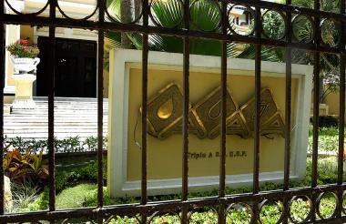 Fachada de las oficinas administrativas de la empresa Triple A en B/quilla.