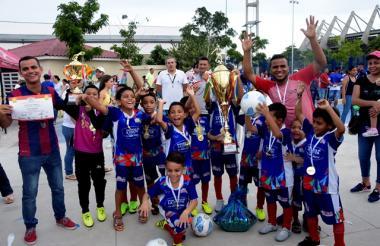 Florencia Soccer de Sincelejo, campeón en la categoría 2010.