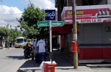 En esta esquina de registraron los hechos en el centro de Montería.