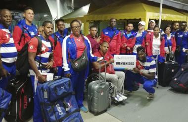 Llegada de la delegación de Cuba.