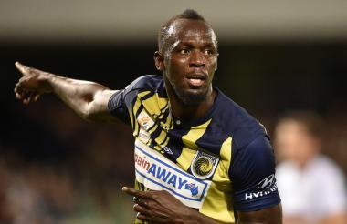 Bolt como futbolista.