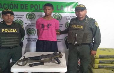 Daniel Eduardo Jiménez Pineda, capturado.