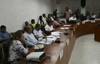 Alma Solano durante su intervención en el Concejo.