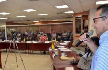 Iván Núñez, vicerrector de la Universidad de Sucre durante su intervención en la Asamblea.