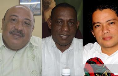 Manuel Sierra Deluque, Iller Acosta y Miguel Ángel López.