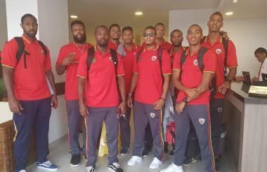 Jugadores de Titanes luego de llegar a San Andrés.