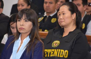 Keiko Fujimori durante la audiencia.