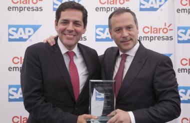 Guillermo Brinkmann Presidente de SAP para la región norte de América Latina y     Carlos Zenteno  Presidente de Claro Colombia