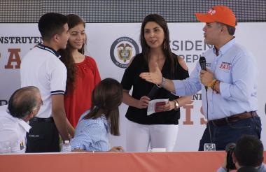 El presidente Duque durante el anuncio del programa Generación E.