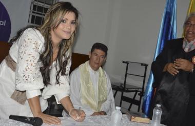 Alexa Henríquez, alcaldesa (e) de Riohacha.