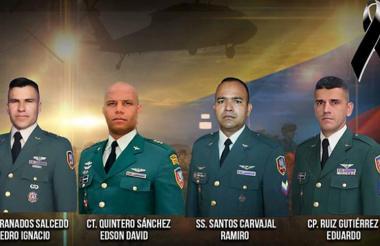 Los uniformados que fallecieron en el accidente.