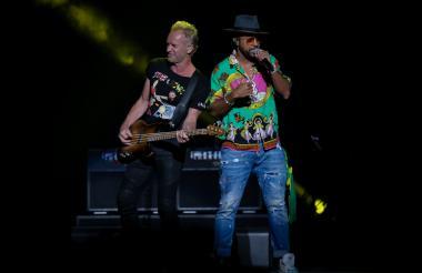Sting y Shaggy deleitaron a Bogotá por dos horas.
