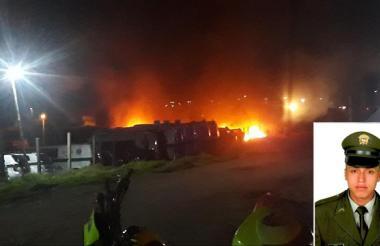 En Tunja fue asesinado el patrullero Jeferson Román en el momento en que prestaba guardia en un lote donde se guardaban carros de la Policía.