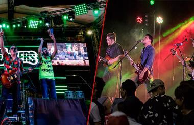 Las bandas barranquilleras Los Crankers y Del Absurdo.