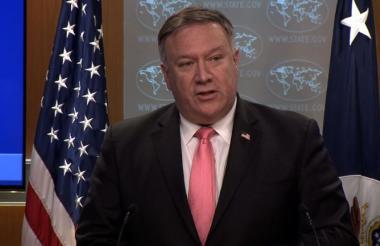 Mike Pompeo, secretario de Estado de EEUU.