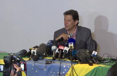 Fernando Haddad, candidato a la Presidencia de Brasil.